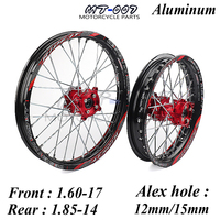 Front 1.60 17 Rear 1.85 14 inch Alloy Wheel Rim with CNC Hub For KAYO HR 160cc TY150CC Dirt Pit bike 14/17 inch motorcycle wheel
