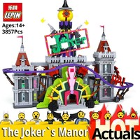 Lepin Bat 07090 man Building Blocks Bricks The Joker`s Manor Set legoings Super Hero Series 70922 Christmas Gift boys funny Toys