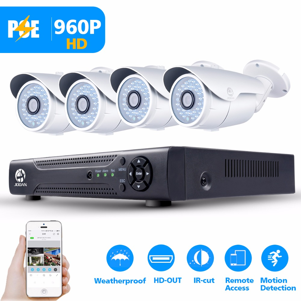 JOOAN 4ch 1080P POE CCTV System Outdoor POE IP Camera HD Recorder 4CH HDMI P2P POE CCTV NVR Security Home Video Surveillance xinfi 4ch hdmi poe nvr 4 channel security cctv 4 ports poe recorder 1080p onvif 2 0 for poe camera system 1080p recorder