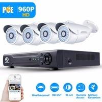4CH POE CCTV System NVR 720P1200TVL Surveillance Camera Security Camera System Remote Monitoring Of P2P Camera