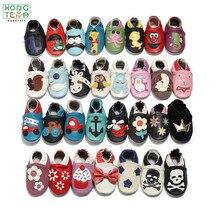 Cartoon Printing Genuine Leather Soft Baby Shoes Newborn