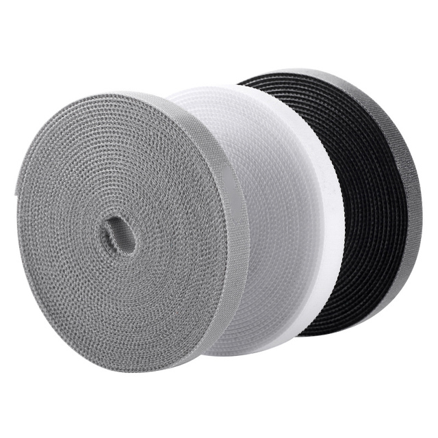 5M/3M Velcros Adhesive Nylon Cable Tie Wire and Cable Organizer Velcro Can Be Cut and Bundled Wire Organizer Double-sided Tape