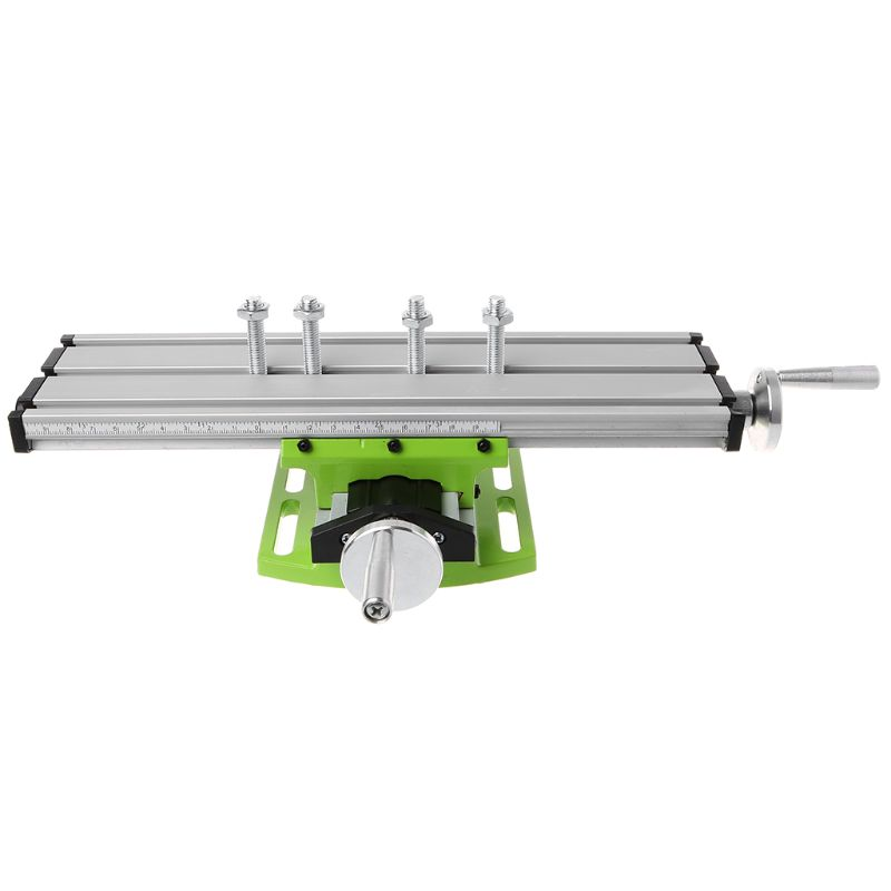 Mini Fräsen Maschine Arbeit Tisch Schraubstock Tragbare Verbindung Bank X-Y 2 Achse Adjustive Kreuz Rutsche Tisch für Bank Bohrmaschine