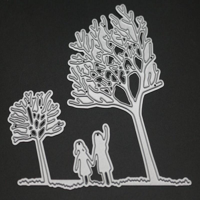 Glita Creatif Girls Tree Metal Cutting Dies For DIY Scrapbooking paper Card Making Album decorative background stamps in Cutting Dies from Home Garden