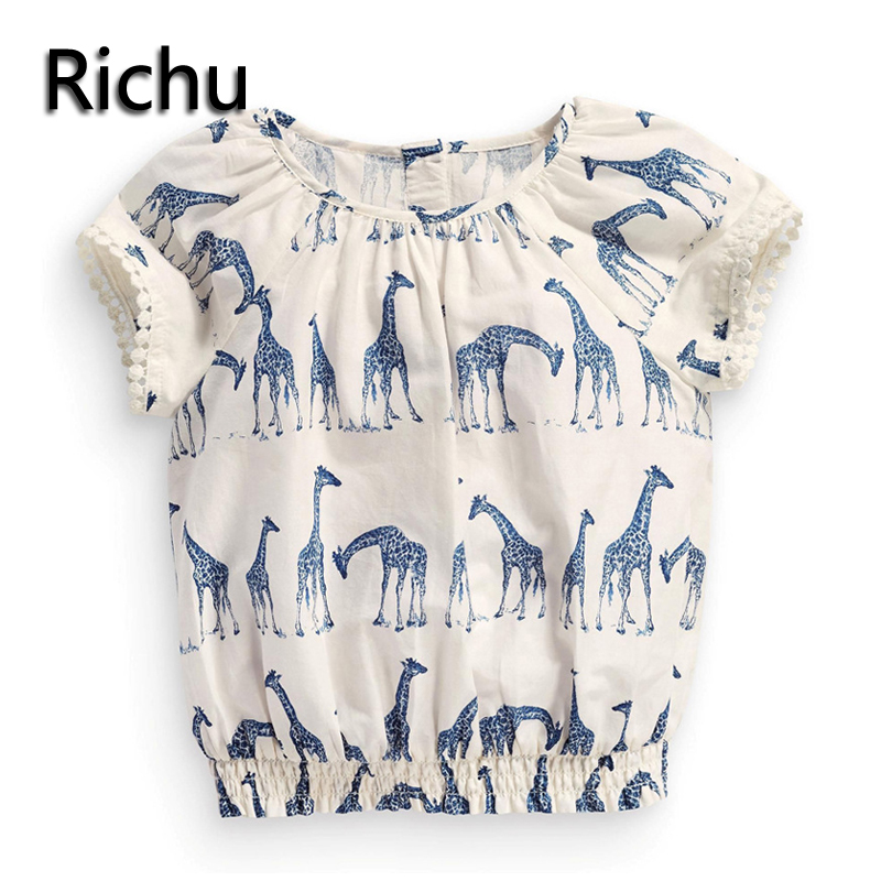 fashion t-shirts for girls cotton fabric Japan style baby 2y 3y 4y 5y 6y 7y female clothes tops tee short sleeve