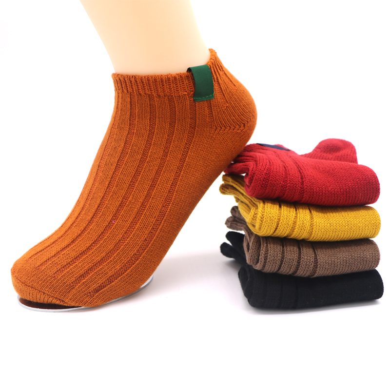 3Pair 2018 Solid Color Mens Socks Fashion Compressing  Funny Stripe Socks Male No Show Ankle Short Socks Meias Chaussette Homme