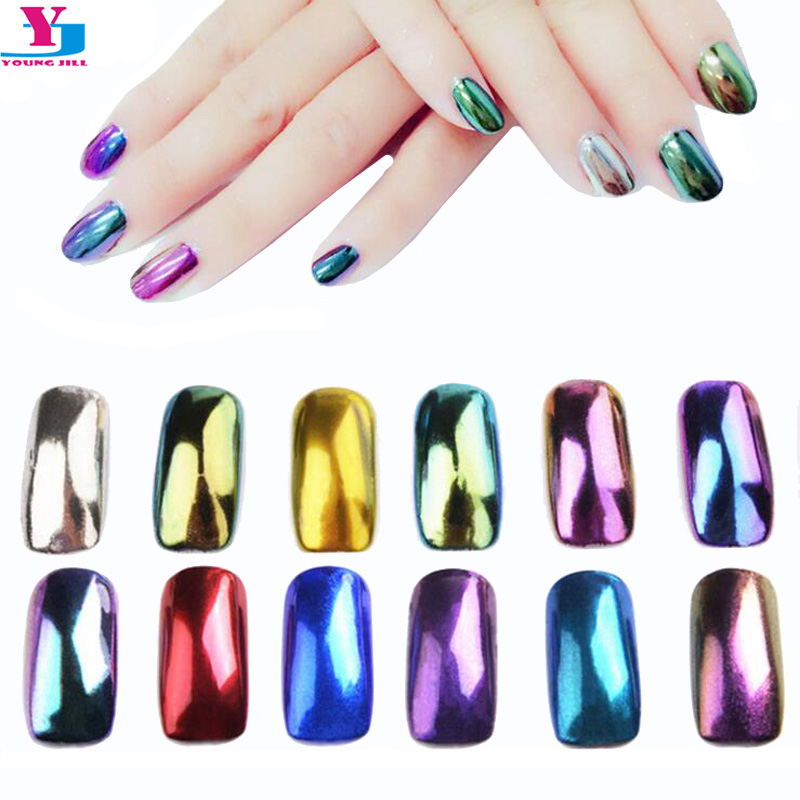 New 2g/box 12 Color Shinning Fine Nail Glitter Powder