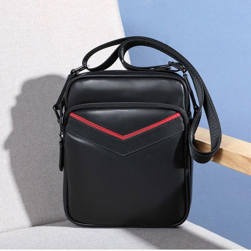 BAQI Brand Men Handbags Shoulder Bag Genuine Leather Cowhide High Quality 2019 Fashion Men Crossbody Messenger Bags Casual Bag