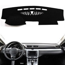 цена на Car Dashboard Cover Mat Pad Dashmat Dash Board Cover Sun Shade Instrument Carpet Protector Accessories For Volkswagen VW Passat B6 B7 2006-2015 Passat CC 2009-2017