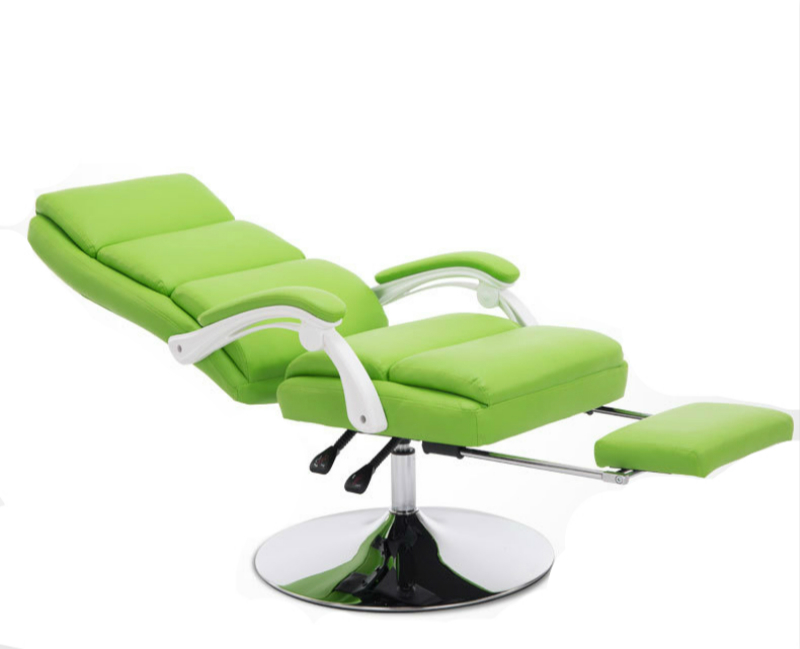 Simple Beauty Chair Reclining Makeup Seat Waist Massage Soft Stool Household Lift Swivel Chair With Footrest Computer Seat