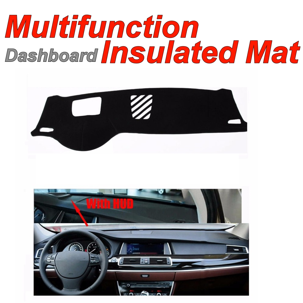 DashboardMat Insulated Original Factory Shape pad Protection Cover Carpet Dashmat For BMW 5 520 523 525 530 535 F10 F11 with HUD