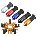 10Pcs/Set Multicolor M5 Motorcycle Windscreen Windshield Spike Bolts Screw Kit Nuts