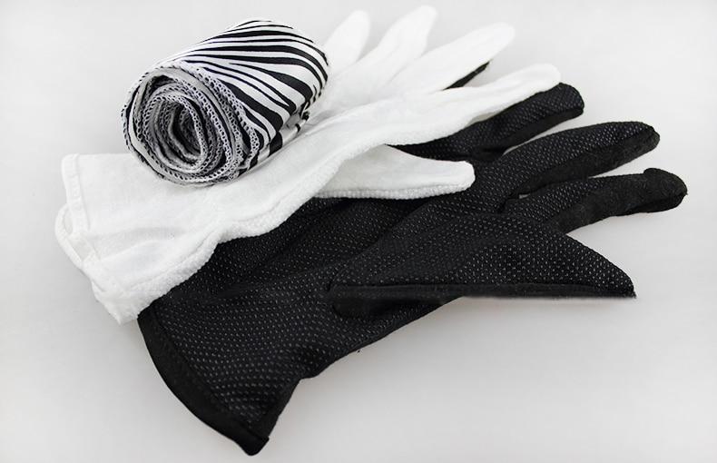 Gant à zèbre soie close up tour de magie magicien professionnel scène de rue partie magia accessoires facile à faire 83108