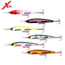 XTS Fishing Lure 6 Pieces/ Lot 70mm 40mm Wobblers Artificial Pencil Bait 3D Real Fish Eyes Sinking High Quality Swimbait S4503