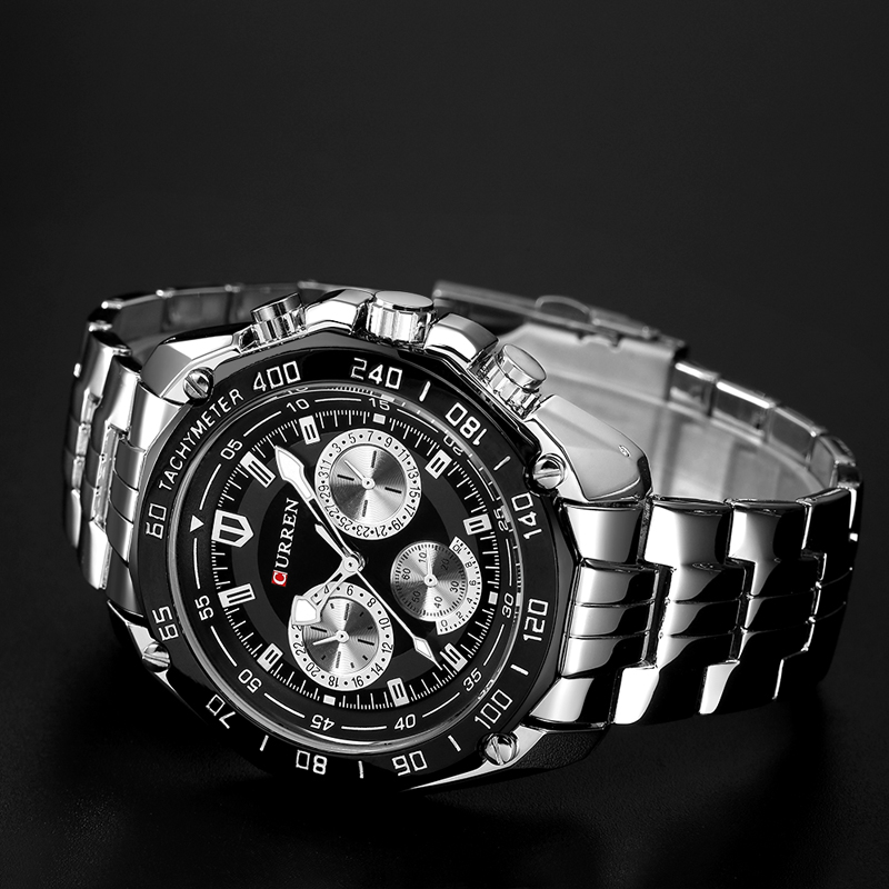 Fashion Curren Luxury Brand Man quartz full stainless steel Watch Casual Military Sport Men Dress Wristwatch Gentleman 2018 New 4