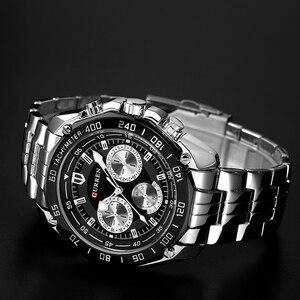 Image 4 - Curren relógio de pulso masculino, relógio de marca de luxo de quartzo em aço inoxidável, casual, militar, esportivo, vestimenta para homens, novo 2018