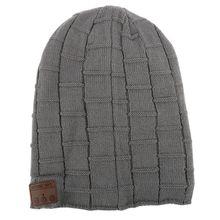 Men's Winter Warm Beanie Soft Hat Wireless Bluetooth Smart Cap Hats Headphone Headset Speaker With Microphone