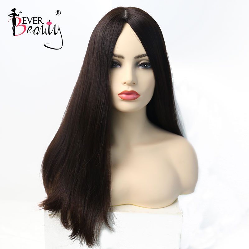 Jewish Wig Kosher Wigs Silk Base European Hair Wig Straight Human Hair #4 Color Wigs For Women Double Drawn Ever Beauty Remy