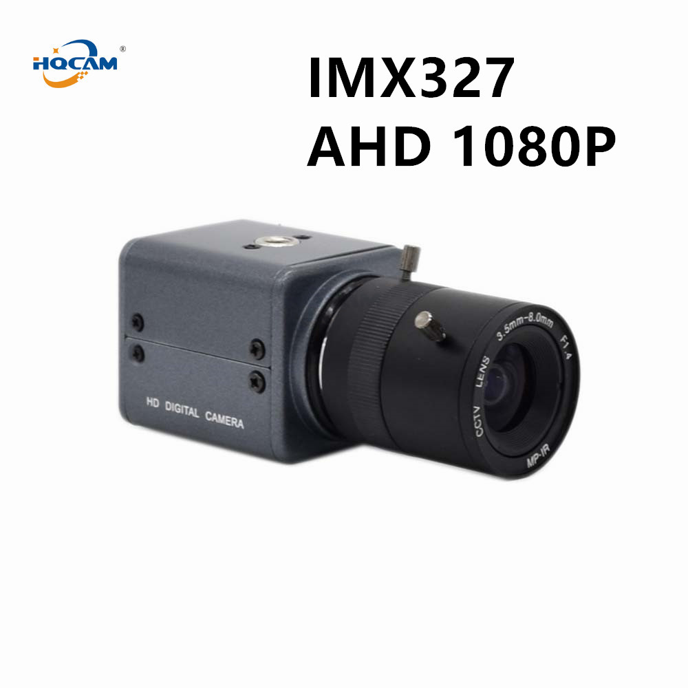 HQCAM Mini 1080P AHD Camera SONY IMX327 WDR Ultral Low Illumination 0.0001Lux Starlight Color Industrial Inspection Cashier