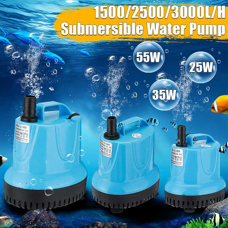 Submersible Water Pump Fish Tank Circulating Aquarium 25/40/55W 220V Fountain Hydroponic Safety Energy Save Filter
