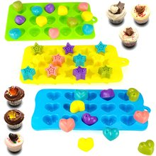 Silicone Chocolate Candy Molds 4 Packs Non-stick Baking Molds Ice Cube Trays Muffin Cupcake Gumdrop Jelly Baking Accessories skeleton skull head silicone chocolate muffin cupcake candy ice cube mold halloween