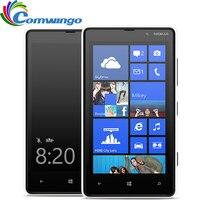 Débloqué Original Nokia Lumia 820 Rénové 8MP Caméra Blanc Rouge Bleu Jaune Noir Cadeau Gratuit Livraison gratuite