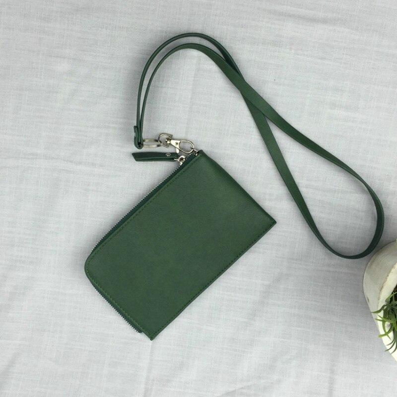 2018 Heißer Mode Kleine Mini Hängen Hals Telefon Tasche Multifunktions Tragbare Armband Kupplung Geldbörse Frauen Handtasche Zipper Pouch