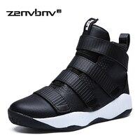 ZENVBNV New Fashion Men Boots Autumn Winter High Quality Men Shoes Flats Ankle Boots Hook Loop