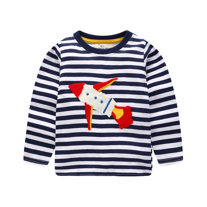 Jumping meters Stripe boys t shirts long sleeve kids clothing cotton for boy autumn spring baby clothes casual wear ...
