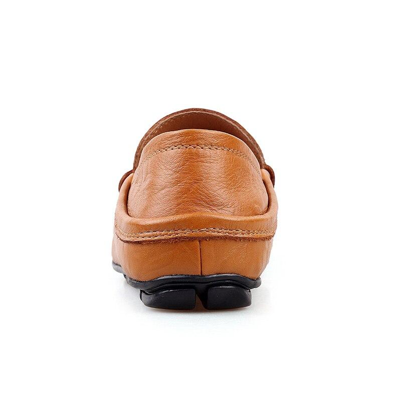 Portant vert Appartements Confortable De jaune S Occasionnels Chaussures Hommes Cuir En Mocassin Noir 2018 Zdrd qwZRzAz