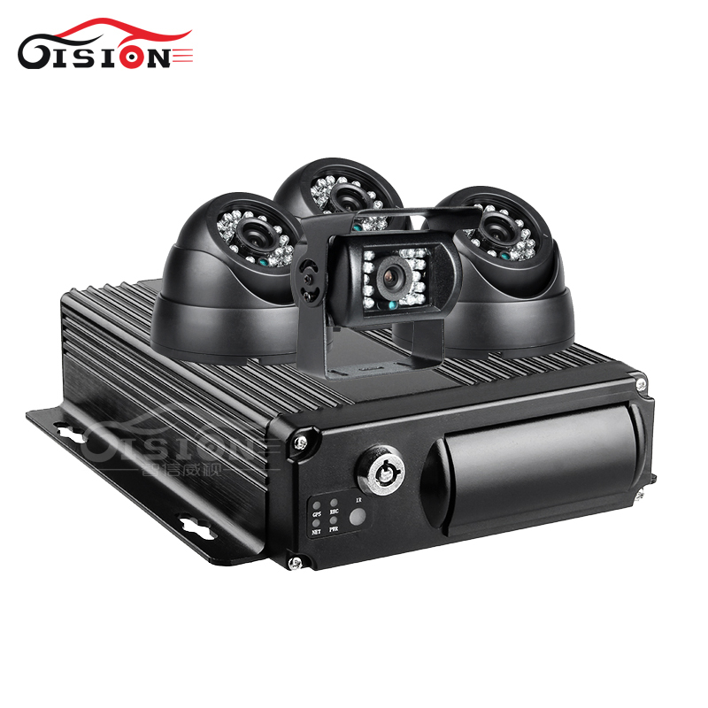 4PCS 2.0MP AHD Car Camera +4G GPS Wifi 4CH Mobile Dvr Kits Real Time Video CCTV Surveillance Playback Cycling Record Dual SD linux system h 264 4ch video audio input gps cctv vehicle ahd mobile dvr with 4g network remote monitoring real time