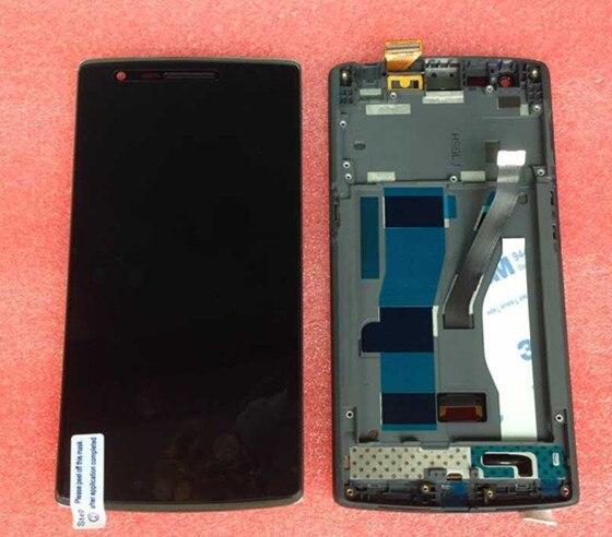 Прошедших проверку на качество ЖК-экран + Сенсорный Дигитайзер с рамкой Для OnePlus ONE ЧЕРНЫЙ ЦВЕТ бесплатная доставка