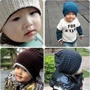 2015 la caída del otoño invierno moda para niños Baby Boy Beanie Cap Hat familia armarios