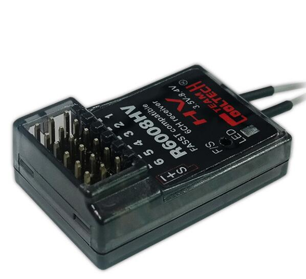 Cooltech New Mini R6008HV FASST 2.4G 6Ch Receiver Futaba Compatible With Metal Shell