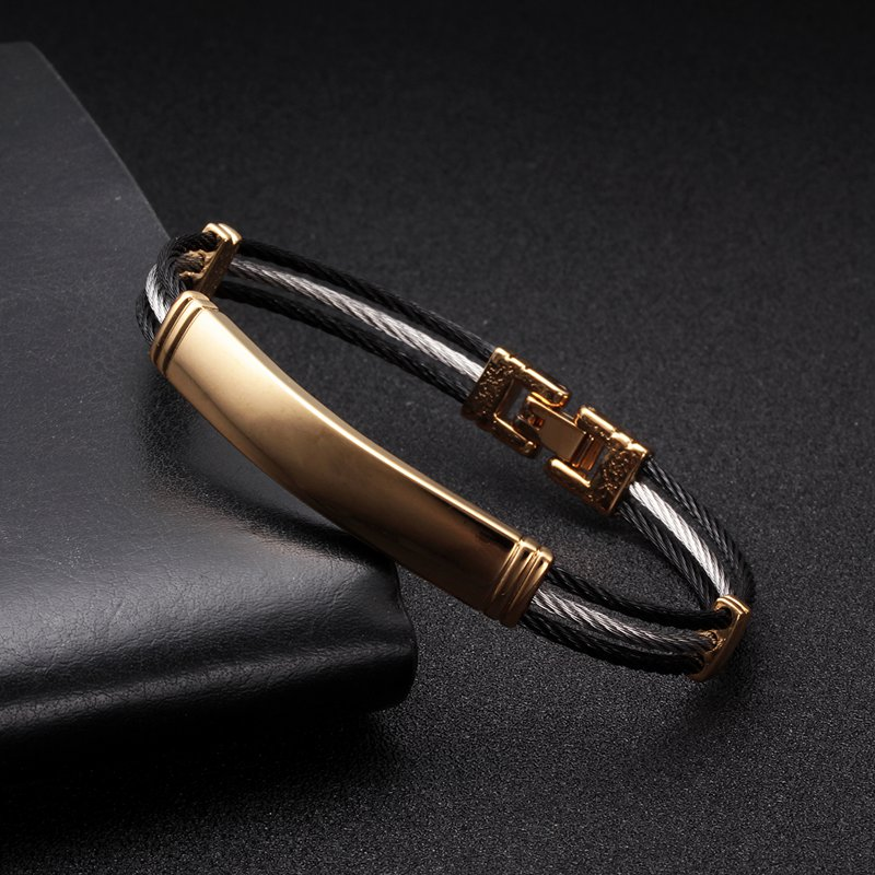 Vintage Sequin Snake Chain Link Charm Bracelets Men Women Jewelry Soft Health Stainless Steel Cuff Sporty Bracelets