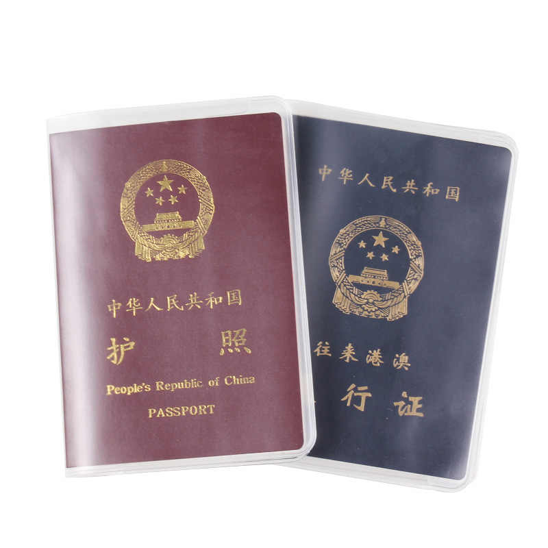 2019 transparent waterproof  ID Card holders anti-dirty scrub Travel passport cover passport protector PVC material Wholesale