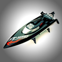 Hot sale FT012 2.4G Brushless RC Remote Control Racing Boat Model Speedboat High Speed 45km/h with Water Cooling Systerm