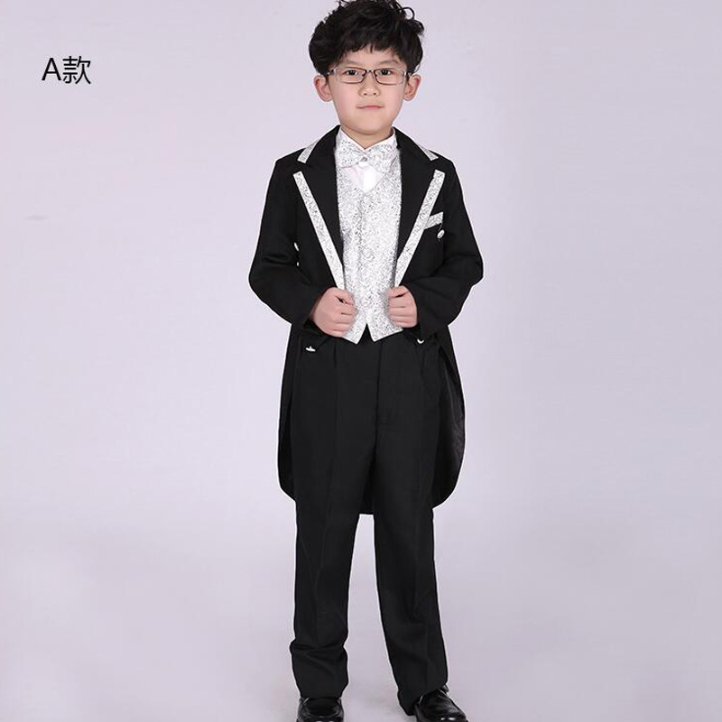 b295e4a8b439f US $30.38 20% OFF|6 pieces Children's swallow tailed coat Boys Tuxedo Suit  Boys Wedding dancing costumes Clothes Children Ballroom Stage wear-in ...