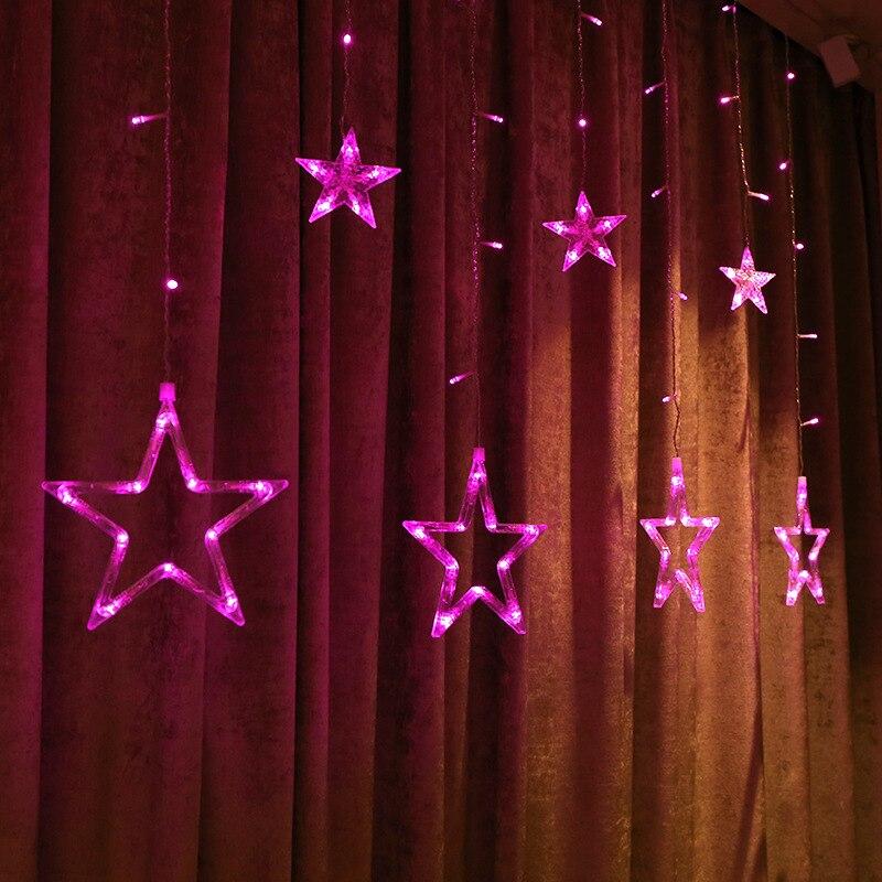 Högkvalitativ 110V / 220V Romantisk LED String Star Gardin Ljus Jul - Festlig belysning - Foto 4