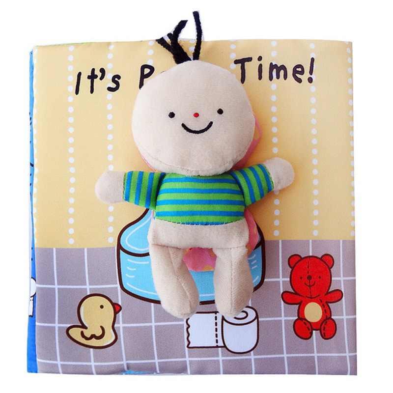 Baby Cloth Book of Bath Potty Children Early cognitive Development Quiet Books Unfolding Activity Book