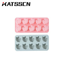 10 Unicorns Silicone Cake Molds Blue and Pink Color Handmade DIY Chocolate Mold Ice Cream Complementary Baking