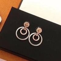 2019 Jewelry Fashion Hoop Earring Women Party Drop Earrings