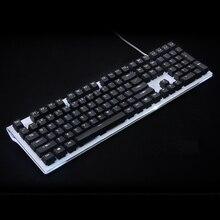 לבן שחור תאורה אחורית Keycap 108 מפתח PBT תאורה אחורית Keycap עבור OEM דובדבן MX מתגים מכאני משחקי מקלדת מכירות רק keycaps