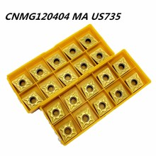 20PCS Carbide insert CNMG120404 US735 high quality external turning tool carbide cutting lathe CNC