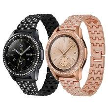 2in1 Bezel + Strap Para Samsung Galaxy Anel Relógio Moldura Para Samsung Engrenagem S3/Galaxy 42mm/46mm de Aço Inoxidável Faixa De Relógio de Metal