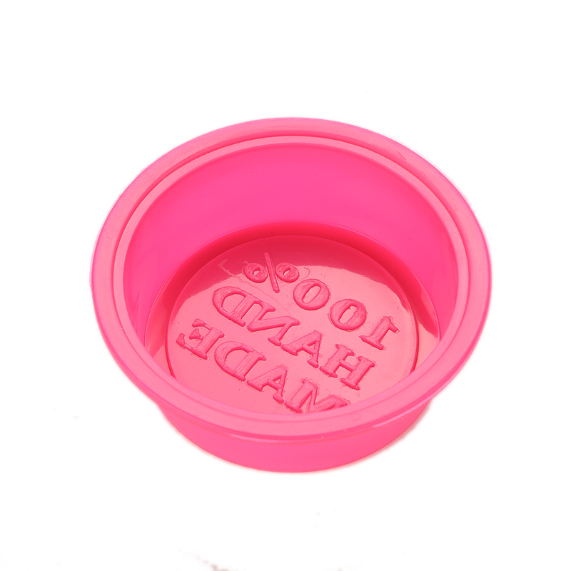 100% Hand Made DIY Silicone Mold Round Soap Mold Fondant Cake Decorating Tools 1pc