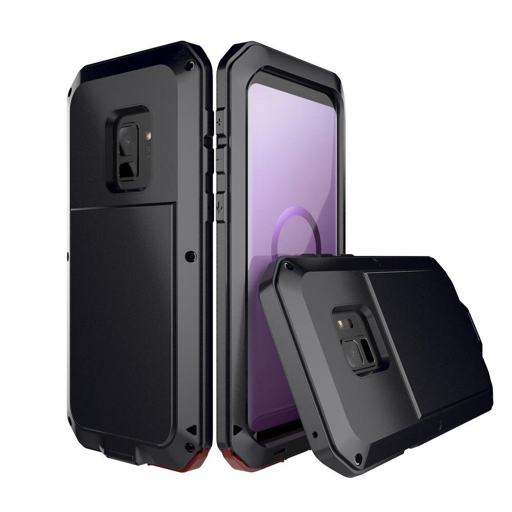 A Desgraça de Luxo Armadura Heavy Duty Caso Caixa De Metal de Proteção total Capa à prova de choque Para Samsung Nota 8 S9 S8 S8plus S9Plus caso