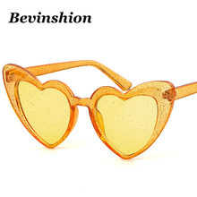 3d4b08733e41 New Candy Color Sexy Cute Heart Sunglasses Women Shiny Glowing Bling Luxury  Ladies Sun Glasses Female Oversize Pink Purple Lens