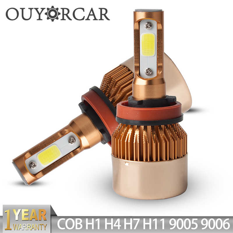 H11 H7 LED H4 Headlight LED Bulb 2Pcs H1 H3 HB4 9006 HB3 9005 H13 72W 8000lm 6500K LED Lamp H4 Auto H 7 11 LED Car Light Styling