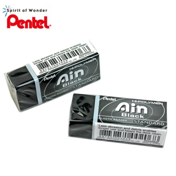 1 Piece Pentel ZEAH06 Black Eraser Graphic Design Professional Eraser Ain Series image